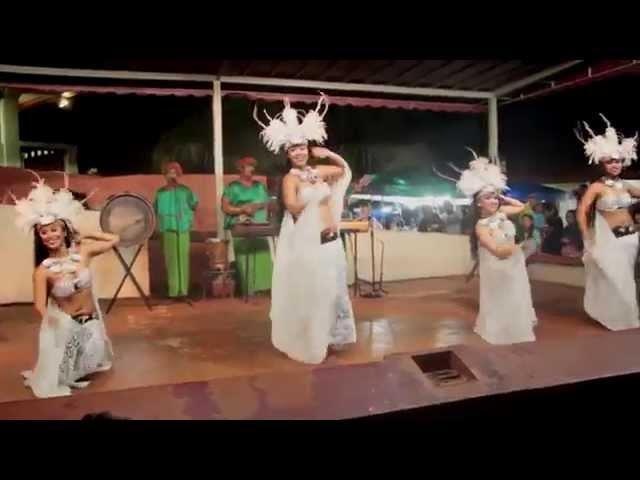Tahitian Hula Dance at the Chamorro Village in Guam.