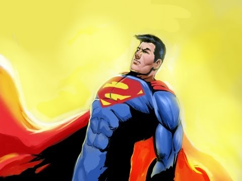 Man of Steel Speed Painting - Easy Things to Draw