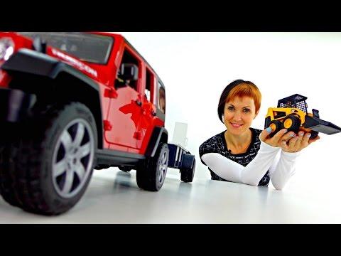 Брудер машины - внедорожник и бульдозер. Распаковка машинок