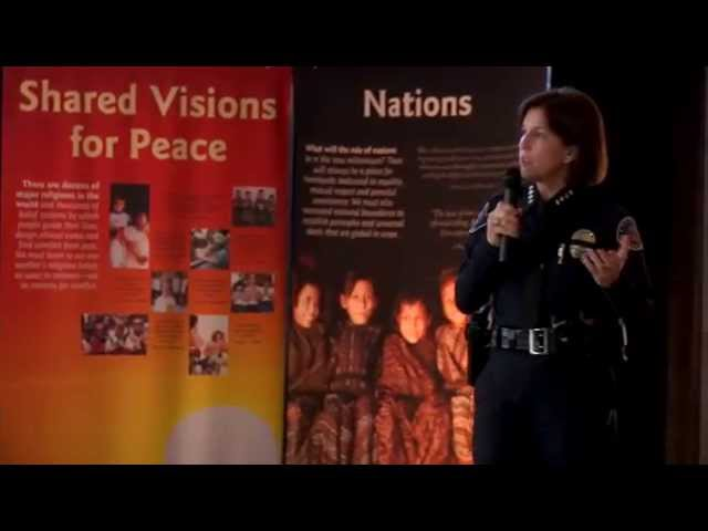 Chief Jackie Gomez Whiteley, Colleen Preciado and Kathryn Hamel - GWC Peace Conference