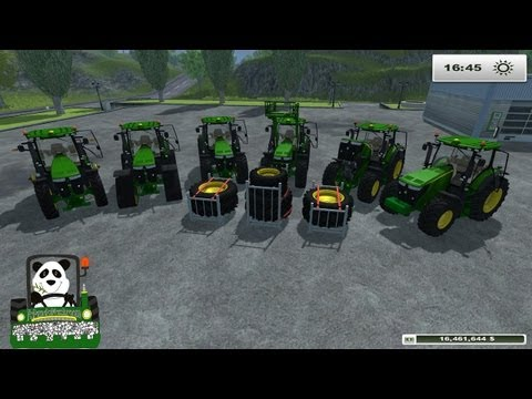 Farming Simulator 2013 Mod Review John Deere 7R Series 6.8 and 9 set l v1 0(en)
