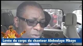 Youssou Ndour - Levée du corps du chanteur Abdoulaye Mbaye