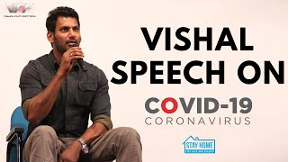 Vishal Speech About How To Fight Against COVID-19? I Tamil | VISHAL