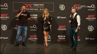 Fight Night London: Michael Bisping and Paige VanZant Q&A