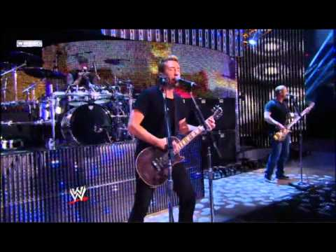 Nickelback Rockstar Live  Wwe video
