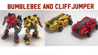 LEGO Transformers Cybertron Bumblebee And Cliffjumper