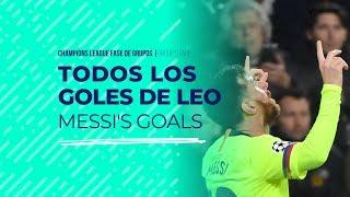 Los seis goles y la asistencia de Messi en la fase de grupos de la Champions League 2018/19