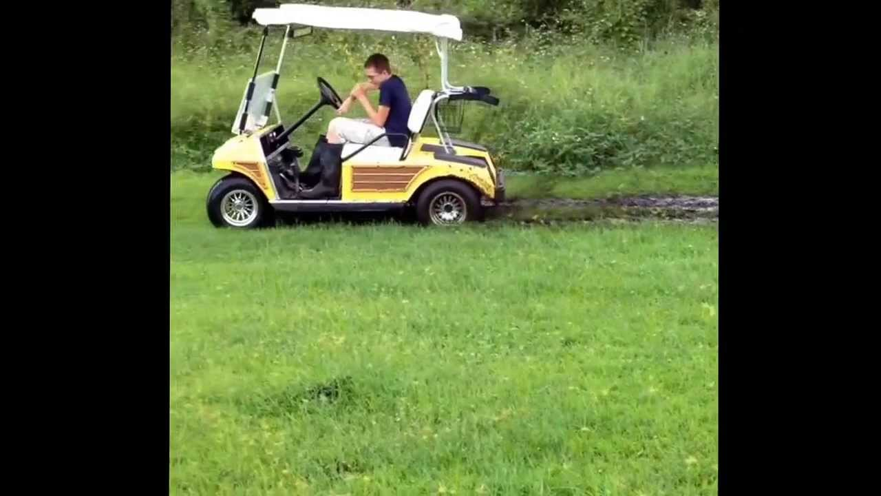 how to get golf cart out of mud