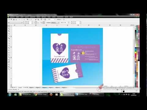 Convite de Casamento básico com envelope CorelDRAW