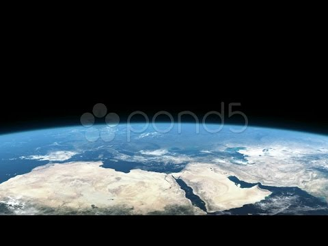 Earth From Space, Europe, Africa, Asia.. Stock Footage