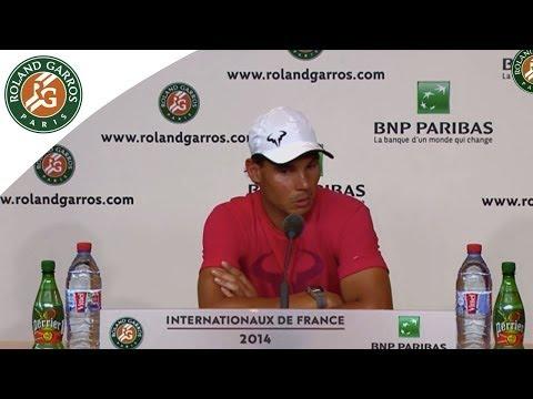 Conférence de presse Rafael Nadal Roland Garros 2014 1T