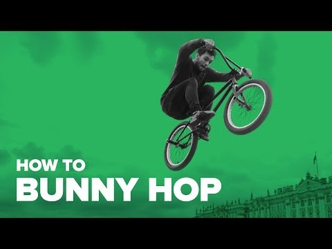 Как сделать банихоп на велосипеде (How to bunny hop BMX)
