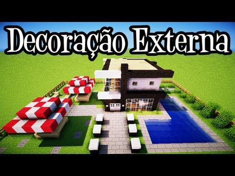 Tutoriais Minecraft: Decoração Externa da Casa Moderna 10x10