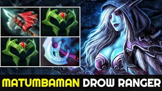 Matumbaman Mid Drow Ranger is back - No Mercy in Pub Game 7.24 Dota 2