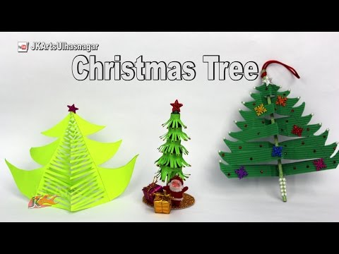 3 Paper Christmas Tree | DIY How to make Christmas decorations | JK Arts  1131