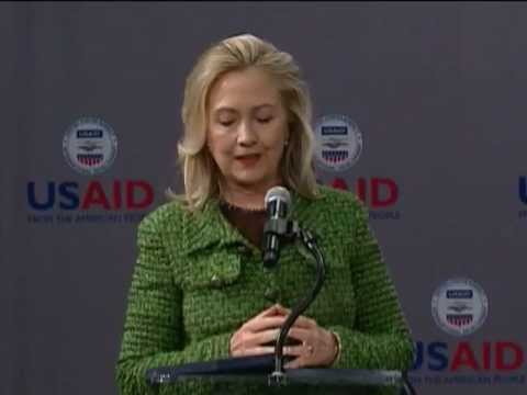 Secretary Clinton Delivers Remarks at USAID Town Hall Meeting