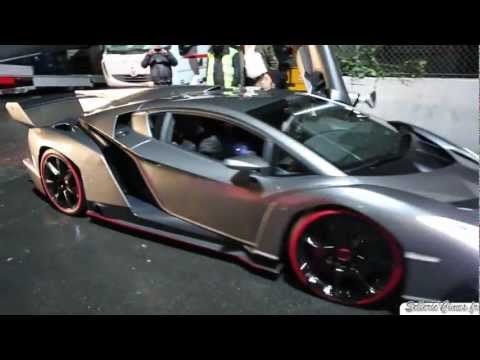Lamborghini Veneno on the road - Start Up & Sound !