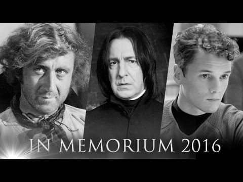 In Memoriam - A Tribute to the people from film & TV we lost in 2016