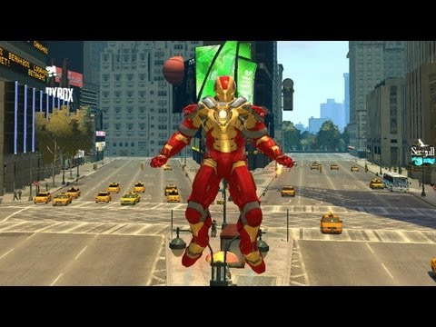 "Grand Theft Auto IV - Iron Man 3 Mark XVII Armor ""Heartbreaker"" (MOD) HD"