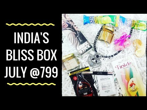 India's Bliss Box July 2018 | Unboxing & Review