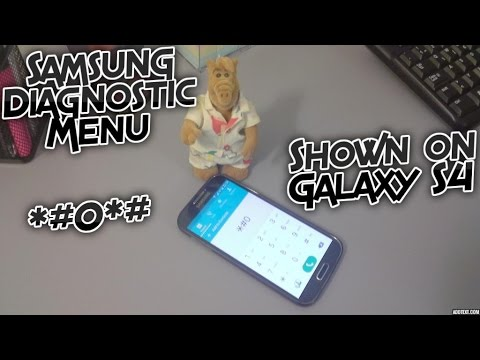 Samsung Diagnostic Mode Test shown on a Galaxy S4