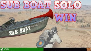 SUB BOAT SAILS OUT // PUBG XBOX SOLO WIN on MIRIMAR