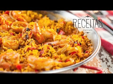 Paella de frutos do mar - Receitas Zaffari