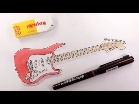 Guitar Fender Drawing How to Draw a Fender