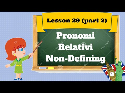 Corso D'inglese- Lesson 30 (part2)-pron. Rel.no Defining video