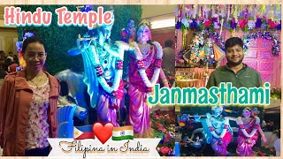 Hindu Temple in Bengaluru & celebrated Krishna Janamastami for the first time | Filipina in India