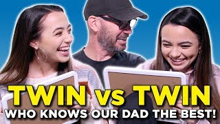 TWIN vs TWIN - Who Knows Our Dad Best - Merrell Twins