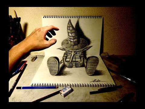 3D Drawing - How to draw 3D ART (Wanderer) 3Dアートの制作風景