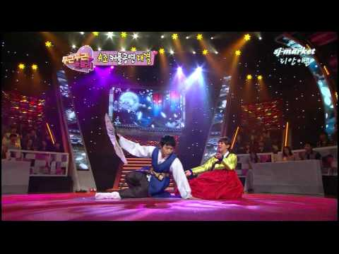 120124 Sungmin & Hyorin performing Korean traditional opera