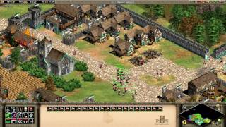 AOE II HD Battle of the Conquerors (Agincourt) Build a village and train soldiers