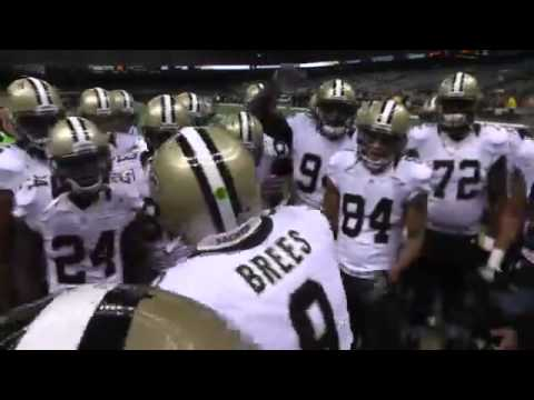Drew Brees Saints Huddle Drew Brees 39 Pregame Huddle vs