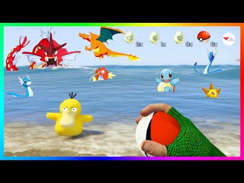POKEMON GO IN GTA 5 - CATCHING RARE POKEMON, HATCHING EGGS, EVOLVING & MORE! (GTA 5 MODS)
