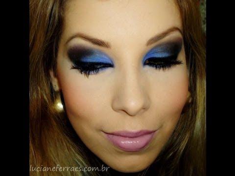 Maquiagem azul noite, com Luciane Ferraes