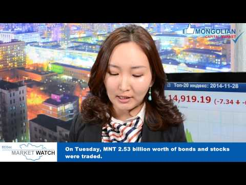 BDSec Market Watch - Weekly Mongolia Market Update (2014.11.28)