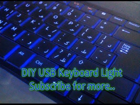 diy usb keyboard led light for your laptop (backlit effect