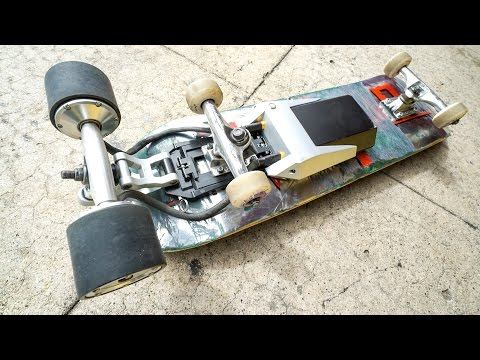 TRANSFORM ANY SKATEBOARD INTO AN ELECTRIC ONE?!  *Detachable Power Source*