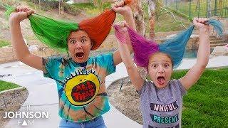 Kids Spray HAIR a CRAZY COLOR!!! 😱 Fun Hairstyle