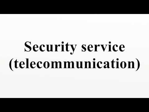 Security service (telecommunication)