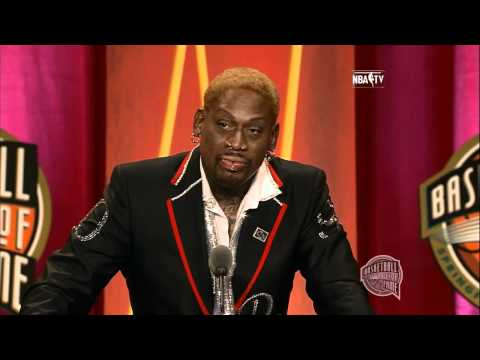 Dennis Rodman's Basketball Hall of Fame Enshrinement Speech