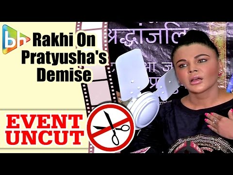 Rakhi Sawant's Press Conference On Pratyusha Banerjee Demise