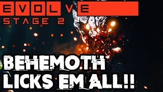 ONE SLIVER LEFT BEHEMOTH BATTLE!! EPIC STAGE TWO MATCH!! Evolve Gameplay Walkthrough (PC 1080p)