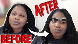 I tried tinting my nonexistent eyebrows... (EXTREMELY FUNNY)