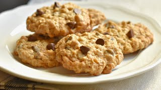 Soft and Chewy Oatmeal Chocolate Chip Cookies/Easy Oatmeal chocolate chip cookie recipe