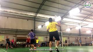 Quang Minh - Nhật Minh vs Đức - Luân | 15/04/2018 | NTH Weekend Badminton Club