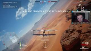 BF1 | Stream Highlight | 66-0 Attack Plane on Sinai Desert