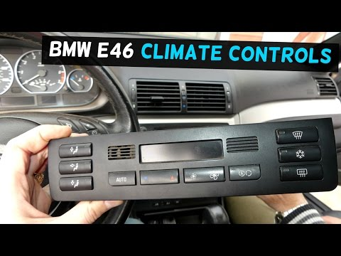 BMW E46 CLIMATE CONTROL AC A/C HEATER CONTROL BUTTON REMOVAL REPLACEMENT